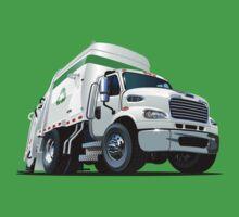 Cartoon Garbage Truck Baby Tee