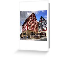 St. George's Fountain Rothenburg Greeting Card