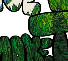 Live Life Smoke Trees Sticker