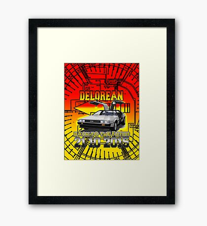 Delorean Back To The Futur Framed Print