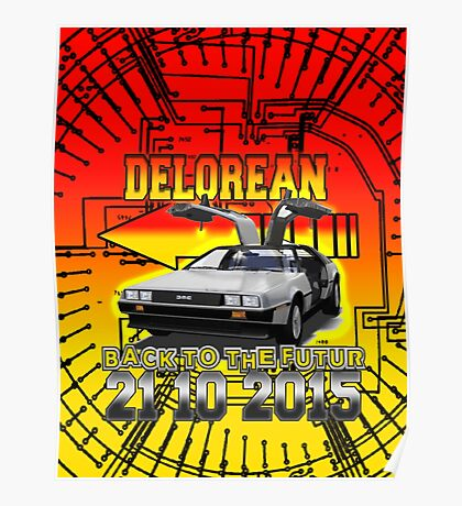 Delorean Back To The Futur Poster