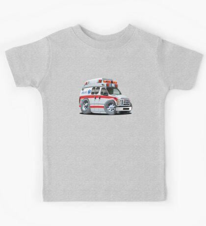 Cartoon Ambulance Car Kids Tee