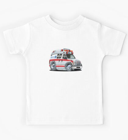 Cartoon Ambulance Car Kids Tee