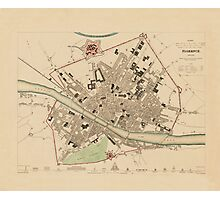 Map Of Florence 1835 Photographic Print