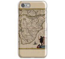 Map Of Ethiopia 1662 iPhone Case/Skin