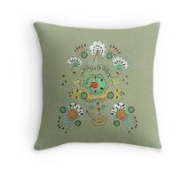 Flower in the Sky Throw Pillow