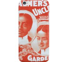 Performing Arts Posters Palmers Uncle Toms Cabin Co 1203 iPhone Case/Skin