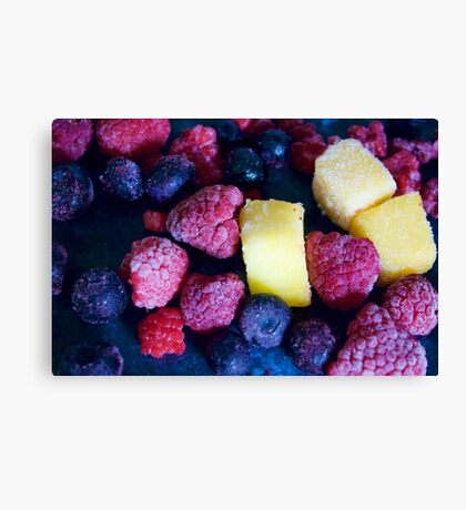 Scattered Fruit Canvas Print