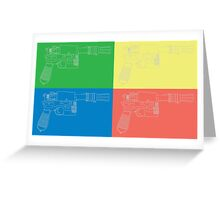 Han Solo Blueprint Tile Greeting Card
