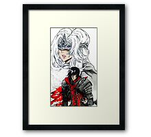 Firekeeper & Ashen One Framed Print