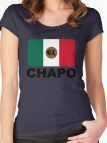 EL CHAPO Women's Fitted Scoop T-Shirt