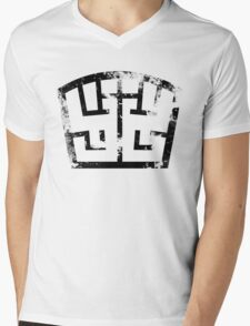 SOLDIER black grunge Mens V-Neck T-Shirt