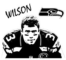 Russell Wilson - Seattle Seahawks - NFL Photographic Print