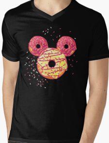 Pop Donut - Strawerry Frosting Mens V-Neck T-Shirt
