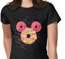Pop Donut - Strawerry Frosting Womens Fitted T-Shirt