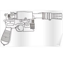 Han Solo DL-44 Line Art Poster
