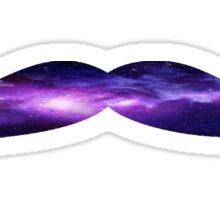 Galaxy Mustache version 2 Sticker