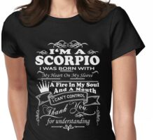 I Am A Scorpio Shirt Womens Fitted T-Shirt