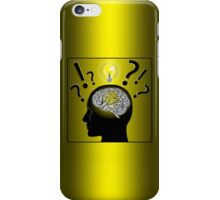 Brain idea and problem solving iPhone Case/Skin