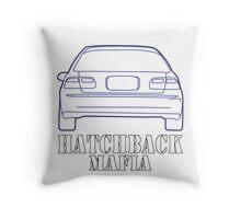 Hatchback mafia Throw Pillow