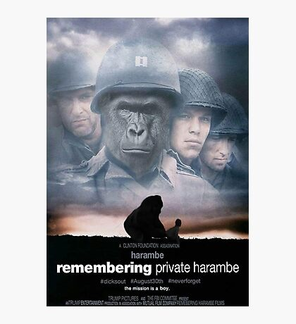 Remembering Private Harambe Photographic Print