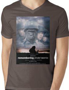 Remembering Private Harambe Mens V-Neck T-Shirt