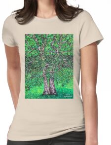 'Elm Trees' (Plein Air Painting) Womens Fitted T-Shirt