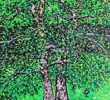 'Elm Trees' (Plein Air Painting) by Jerry Kirk