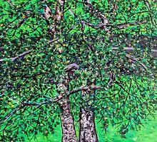 'Elm Trees' (Plein Air Painting) by Jerry Kirk