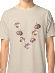 Funny halloween Gothic ward off vampires garlic necklace  Classic T-Shirt