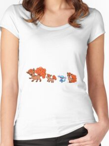 Vulpixes and a Wooper Women's Fitted Scoop T-Shirt