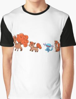 Vulpixes and a Wooper Graphic T-Shirt