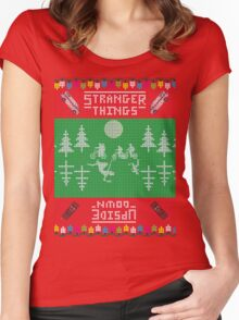 Stranger Things Christmas Women's Fitted Scoop T-Shirt