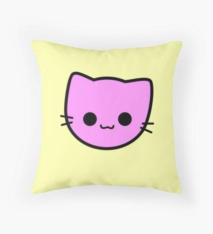 Kawaii Kitty Cats 2048 - tile 2 Throw Pillow