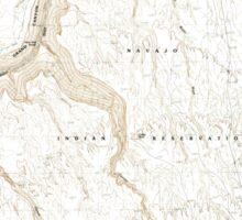 USGS TOPO Map Arizona AZ Bitter Springs 310483 1985 24000 Sticker