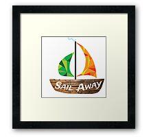 Sail Away: Orange/Green Framed Print