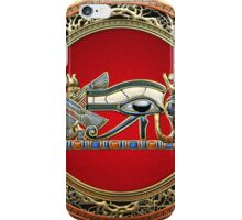 The Eye of Horus in Gold on Red  iPhone Case/Skin