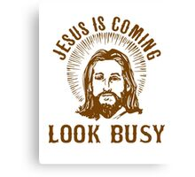 Jesus Busy Canvas Print