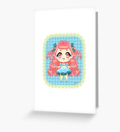 Lollipop Chibi Greeting Card