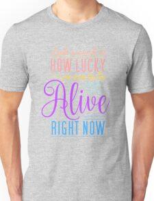 Hamilton Musical Quote. Colourful. Unisex T-Shirt