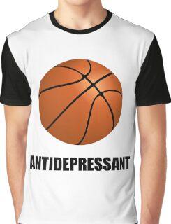 Antidepressant Basketball Graphic T-Shirt