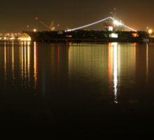 San Diego Navy Harbor Night Sticker