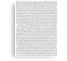 every Twenty One Pilots song/lyric off Self Titled Canvas Print