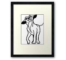 I LOVE MY DOGS_21 Framed Print