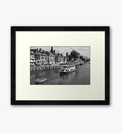 King's Staith beside the river Ouse Framed Print