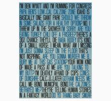 Ben Wyatt - Parks & Rec Quote Set Kids Tee