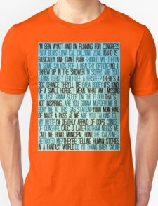 Ben Wyatt - Parks & Rec Quote Set Unisex T-Shirt