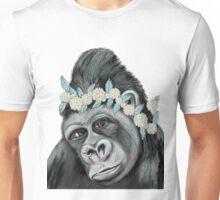 Gorilla with Flower Unisex T-Shirt