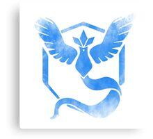 Team Mystic grunge blu Canvas Print