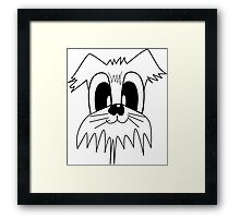 I LOVE MY DOGS_23 Framed Print